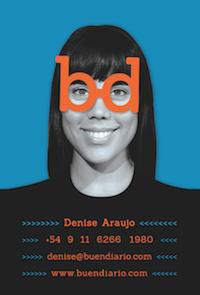 Buendiario- Tarjeta personal Denise Araujo