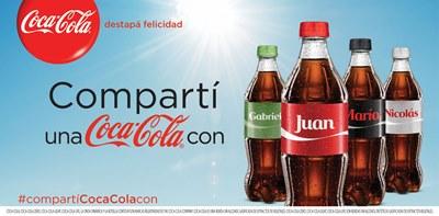 Coca-Cola presenta Compartí una Coca-Cola con nombre y apellido
